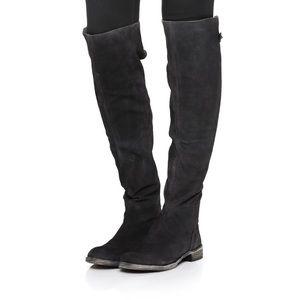 Free People Carlisle OTK Black Suede Boots 7.5